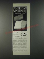 1946 American Stationery Ad - The Much for a Little