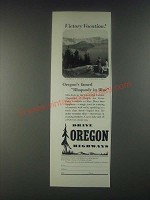 1946 Oregon Tourism Ad - Victory Vacation