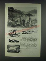 1946 Oregon Tourism Ad - Highlights of Your Oregon Vacation Adventure