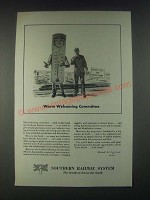 1946 Southern Railway System Ad - Warm Welcoming Committee