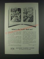 1946 Southern Railway System Ad - Which is the South? Both Are!