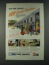 1946 New York Central Ad - New Luxury Coaches