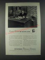 1946 Dictaphone Electronic Dictation Machine Ad - Control Center