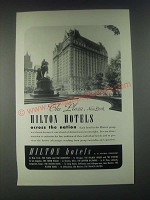 1946 The Plaza, New York Hilton Hotel Ad