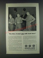 1946 National Dairy Products Corporation Ad - it Must Rain Milk Back Here