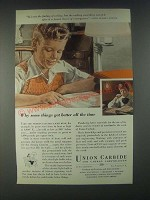 1946 Union Carbide Ad - It's Not the Finding Of a Thing