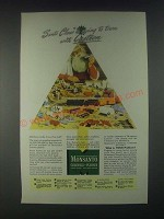 1946 Monsanto Chemicals Lustron Plastic Ad - Santa Claus is Going to Town