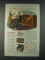 1946 Motorola Radios Ad - Beautiful Music All Through the House