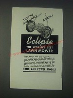 1946 Eclipse Lawn Mower Ad - They're Available Again!