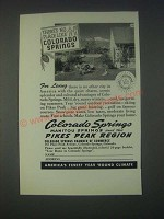 1946 Colorado Springs Tourism Ad - There's No Place like