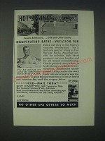 1946 Hot Springs National Park Arkansas Ad - Superb Bathhouses