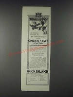 1931 Rock Island Railroad Ad - Golden State Limited