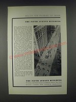 1931 The Fifth Avenue Building Ad - Mecca for Pilgrims of Trade