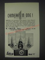 1931 Leica Model C Camera Ad - 4 Cameras in One