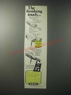 1979 Minwax Wood Finish Ad - The Finishing Touch