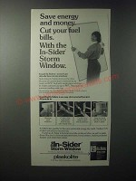 1979 Plaskolite In-Sider Storm Window Ad - Save Energy
