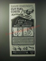 1979 Arrow T-50 Staple Gun Ad - Save Energy Cut Fuel Costs