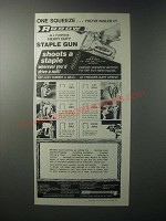 1979 Arrow T-50 Staple Gun Ad - One Squeeze You've Nailed It