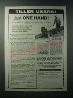 1979 Troy-Bilt Roto-Tiller Ad - Just One Hand