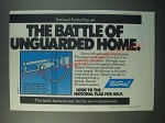1979 National Dead Bolt and Chain Guard Ad - Unguarded Home