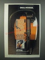 1979 Stihl 015AV Chainsaw Ad - Small Wonder