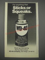 1979 WD-40 Oil Ad - For Anything That Sticks or Squeaks