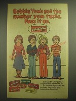 1981 Bubble Yum Gum Ad - Got The Number Yum Taste. Pass it on