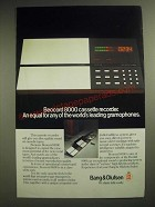 1981 Bang & Olufsen Beocord 8000 Cassette Recorder Ad - An Equal