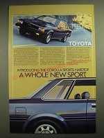 1981 1/2 Toyota Corolla Sports Hardtop Ad - A Whole New Sport