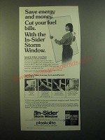 1980 Plaskolite In-Sider Storm Window Ad - Save Energy and Money