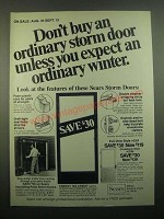 1980 Sears Storm Doors Ad - Don't Buy an Ordinary Storm Door
