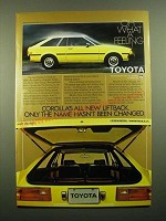 1980 Toyota Corolla Liftback Ad - Only the Name Hasn't Changed