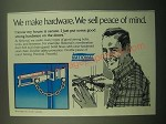 1980 National Combination Door Bolt and Chain Guard Ad - Peace of Mind