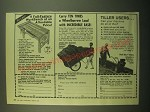 1980 Garden Way Ad - Workbench, Cart and Troy-bilt Roto-Tiller