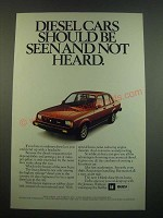 1982 Isuzu I-Mark Diesel Car Ad - Should be Seen and Not Heard