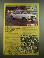 1982 Toyota Corolla Tercel Ad - A Car for All Seasons