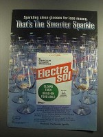 1983 Electrasol Dishwasher Detergent Ad - That's the Smarter Sparkle