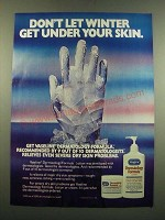 1983 Vaseline Dermatology Formula Lotion Ad - Don't Let Winter Get Under Skin