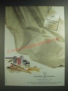 1985 Stroheim Romann Oriana Fabric Ad - The European Collection