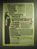 1985 American Sunrise Corp. The Force of Witchcraft Ad - I am anxious to show