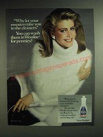 1985 Woolite Cleanser Ad - Why let your sweaters take you to the cleaners? You