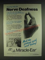 1985 Miracle-Ear Hearing Aid Ad - Hearing Help for Nerve Deafness