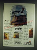 1985 Olympic Semi-Transparent Oil Stain & Solid Color Oil Stain Ad
