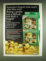 1985 Kwikset Lockset Ad - Sometimes bargain locks aren't what they seem