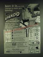 1985 Arrow T-50XP Staple Gun Attachment Ad - Here it is… a new concept in