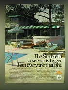 1985 Sunbrella Fabric Ad - The Sunbrella cover-up is bigger than everyone