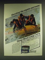 1985 Skoal Long Cut Tobacco Ad - Shooting the rapids ain't easy