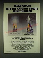 1985 Turtle Wax Clear Guard Ad - Clear Guard lets the natural beauty shine