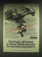 1985 Allstate Insurance Ad - Some hard, cold reasons to choose Allstate