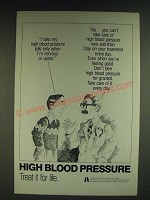 1985 U.S. Dept. of Health and Human Services National High Blood Pressure Ad